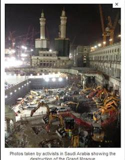 Foto Pembongkaran Situs Sakral Masjidil Haram di Mekkah