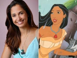 Camila Pitanga tem a mesma beleza de Pocahontas