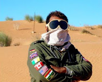 Braving desert dust storms