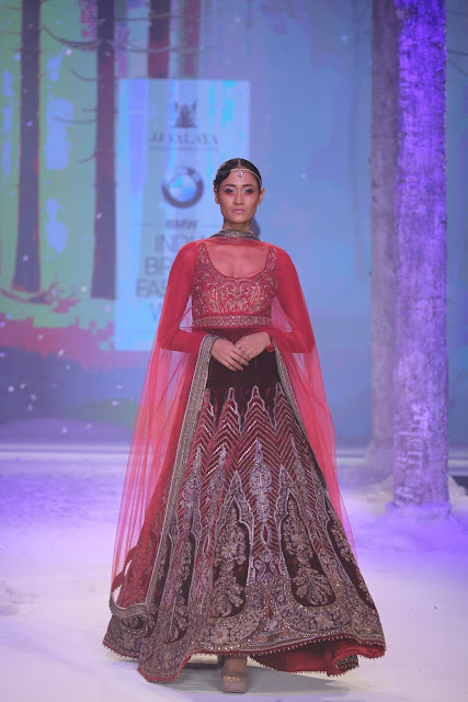 JJValaya-BMW-Indian-Bridal_Fashion-Week-Maroon-Anarkali