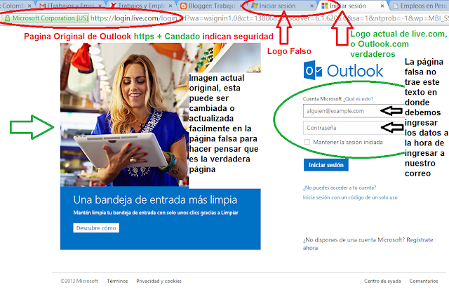 Página Oficial de Outlook.com