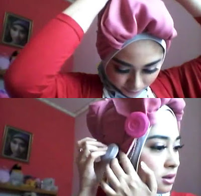 Tutorial Hijab Turban Cantik dan Unik by Nina Septiani