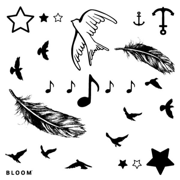 planche tatouage temporaire - Planche tatouages temporaires Triangles argenté doré x1