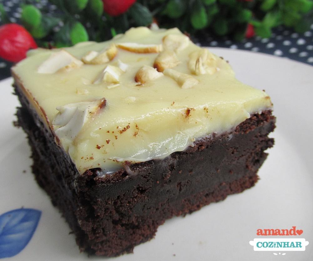 Favoritos Brownie Dois Amores   Receita rápida e simples de fazer GC05
