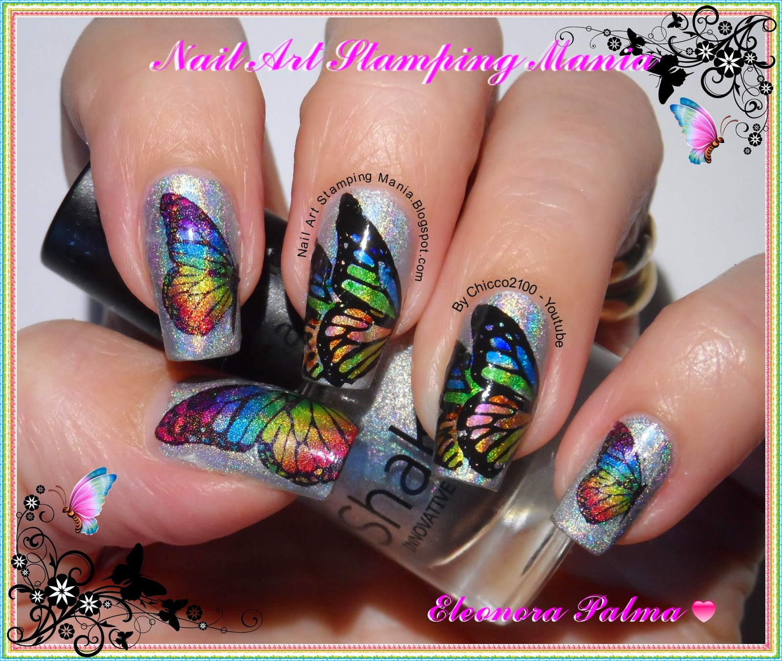 Nail Art Stamping Mania: LeadLight Mani With Permanent Markers and ...