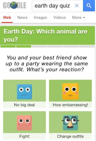 Googles Earth Day Quiz