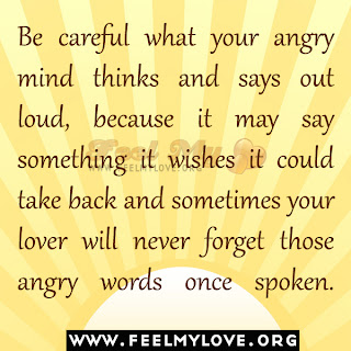 Be careful what your angry mind thinks