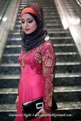 ADIBAH KARIMAH POSING AT STAIRCASE