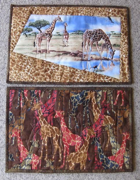 Giraffe placemats