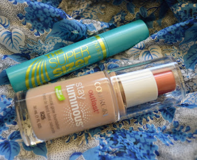 Cover Girl Outlast Stay Luminous Foundation and Super Sizer Mascara