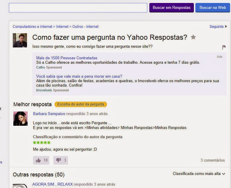 Pérola do Yahoo Resposta