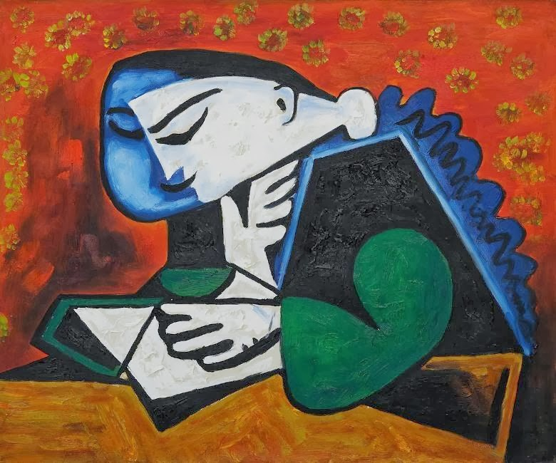 Pablo Picasso - Woman Reading, 1953