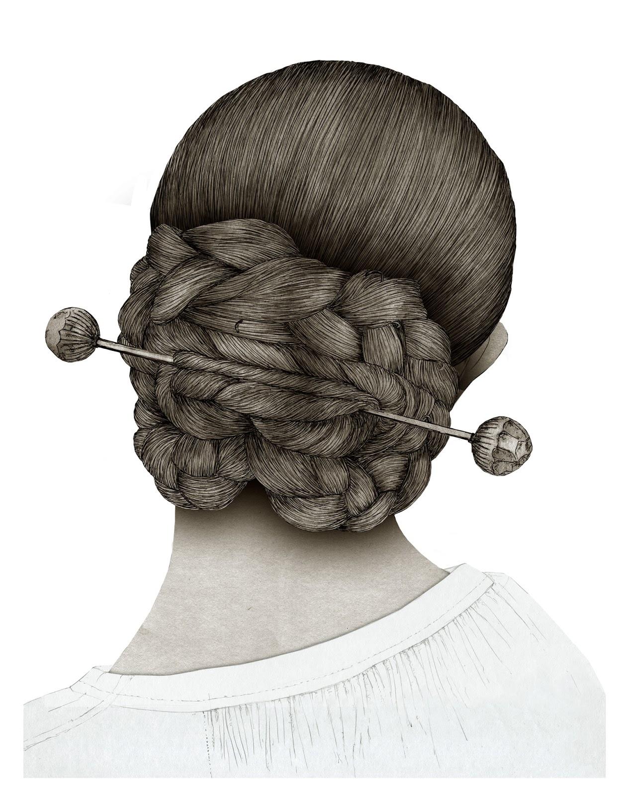 Peinado Valenciana, dibujo