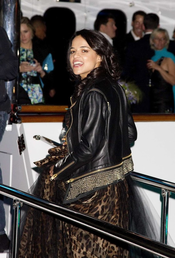 Michelle Rodriguez aries at The Lady Joy Yacht party in Cannes