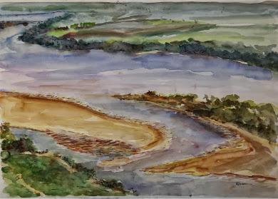 Praias e ihas no Rio Paraná