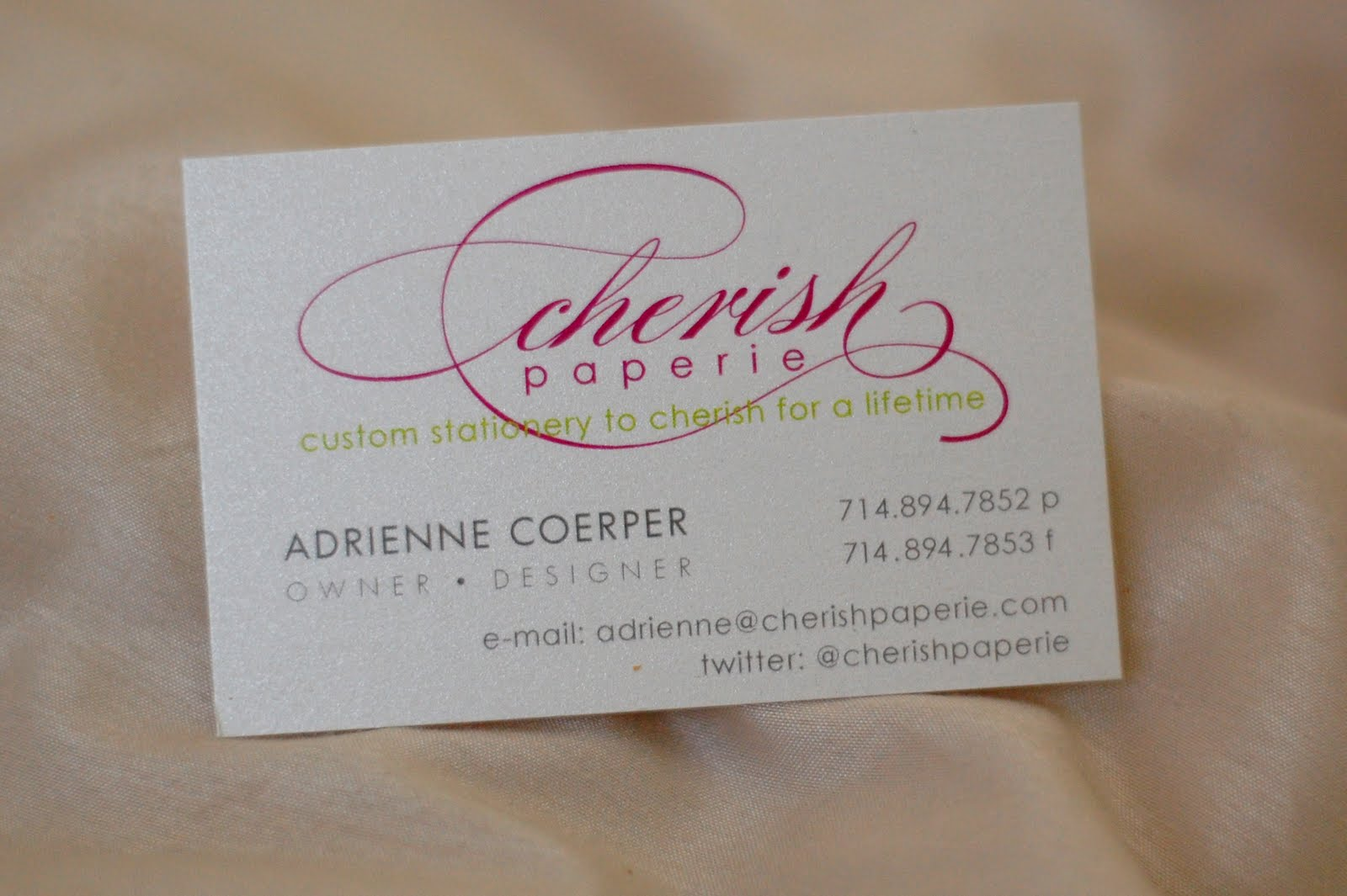Business Cards {Product Information} - Cherish Paperie