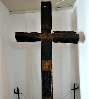 Cruz marcava o local onde ocorreu a  Batalha de Resistência de São Borja.