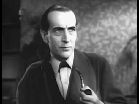 Arthur Wontner starring as Sherlock Holmes in The Sleeping Cardinal