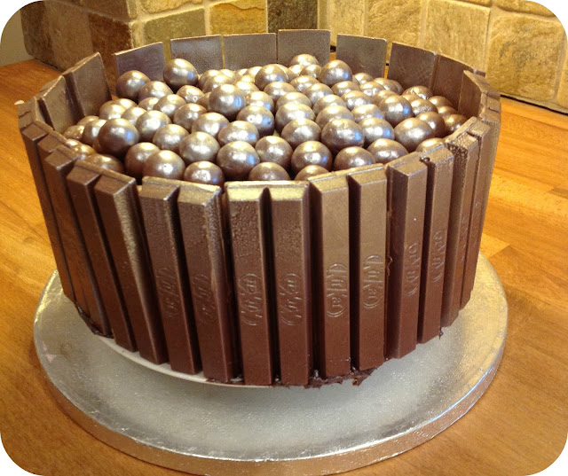 Glittery Malteser Amp Kit Kat Cake I Love Cake Mummy Mishaps