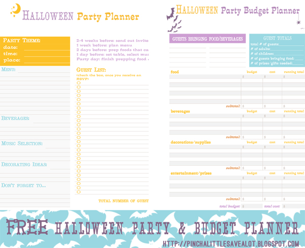Pinch A Little Save-A-Lot: Free: Halloween Party & Budget Planner