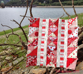Block 68 - Nearly Insane Quilt at the Elan Valley, Wales