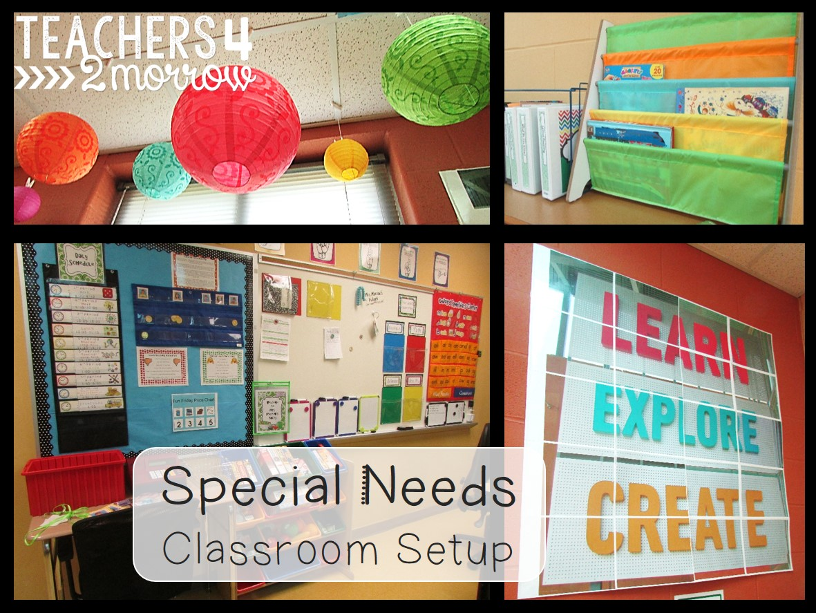 Classroom Organization Ideas For Special Education : Teachers morrow special education classroom setup