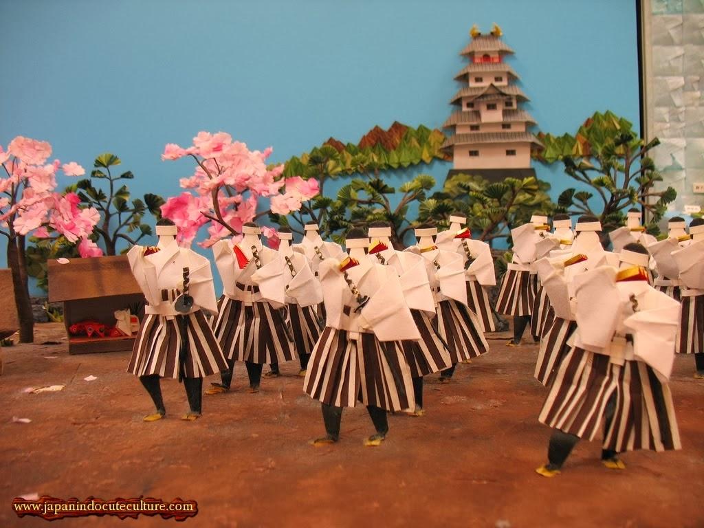 Prajurit kerajaan Jepang I Museum Origami Cantik di Narita Airport Jepang