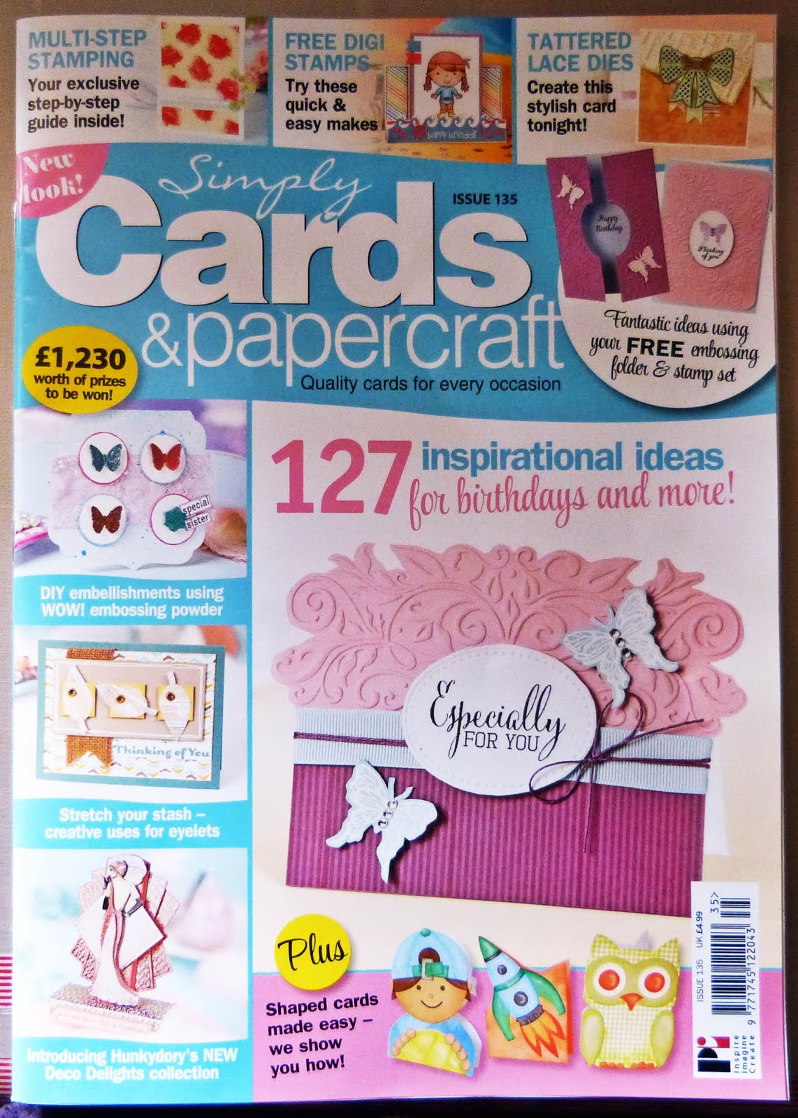Published Simply Cards & PaperCrafts 135