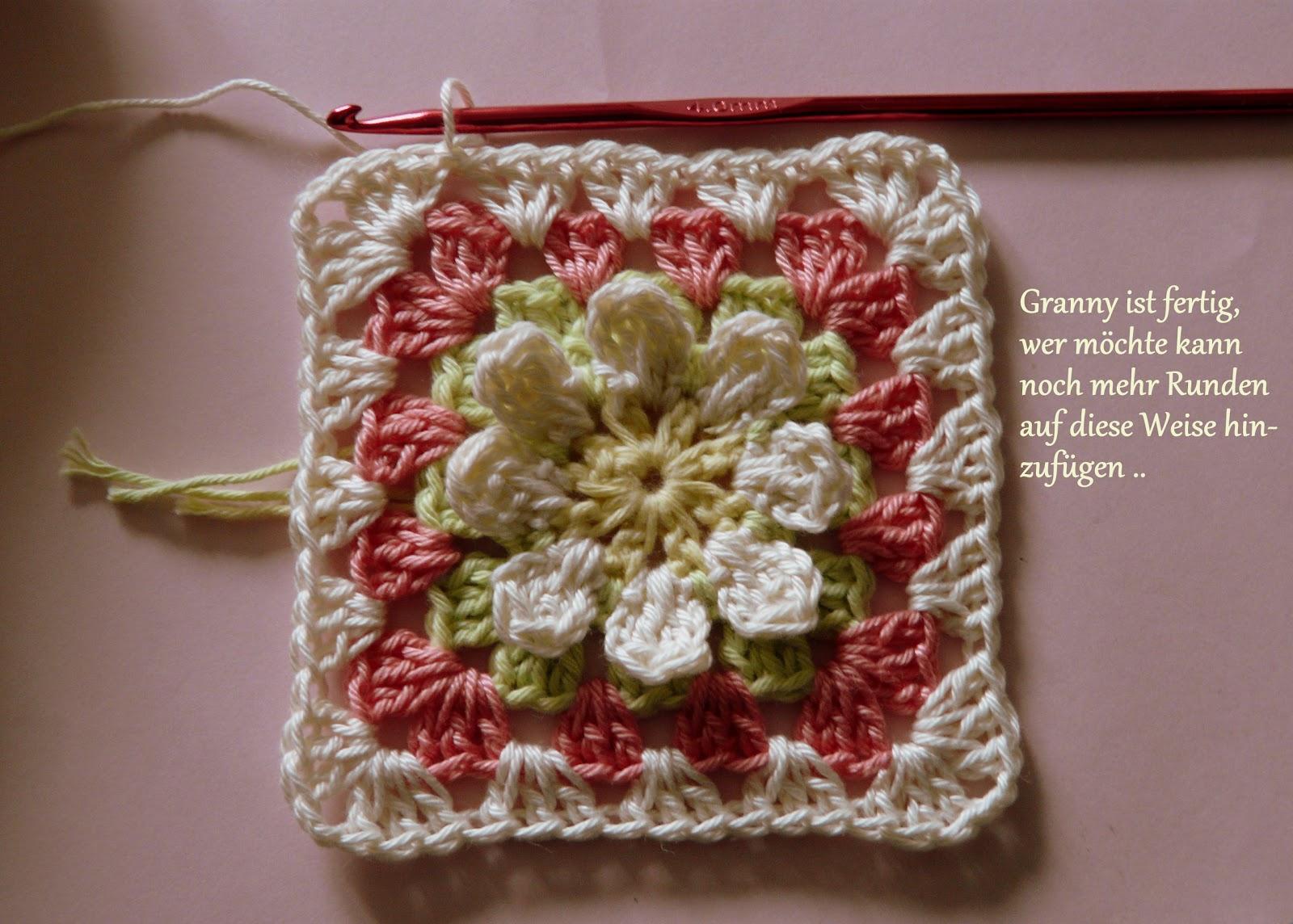 Blumen-Granny-Square