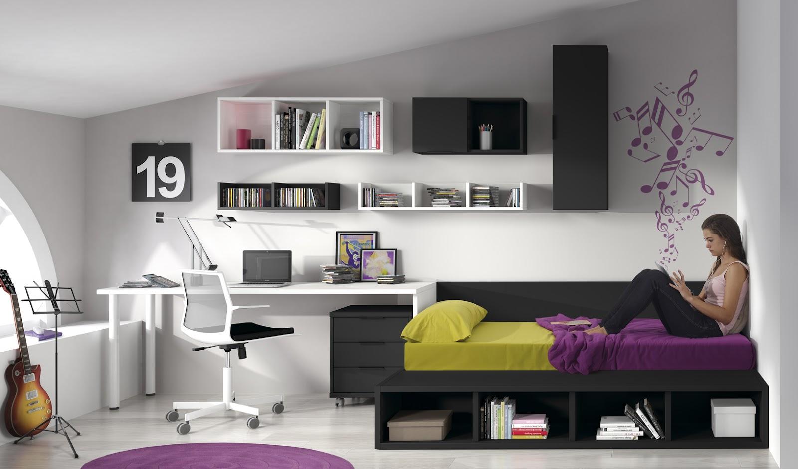 Habitacion adolescentes tarimas cama barcelona sofas y for A medida interiorismo