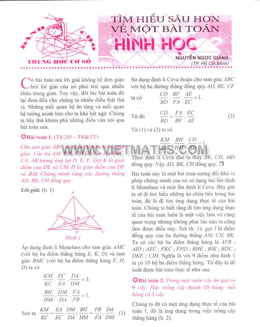 Nguyễn Ngọc Giang, tim hieu sau hon ve bai toan hinh hoc