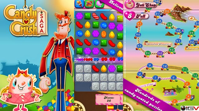 Candy Crush Saga, disponible en Facebook