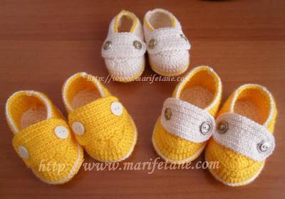 Tığ işi Çift Tabanlı Bebek Ev Ayakkabısı