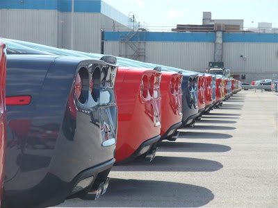 corvette plant, bowling green, kentucky, pictures, production,