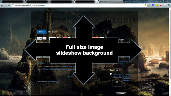 jQuery Multiple Full Size Background Image Slideshow-Slideshow-slider, Blogger, Tutorial