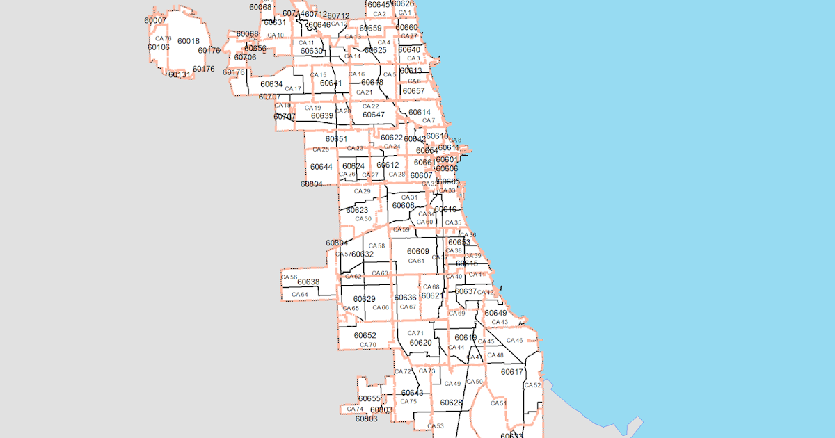 Chicago Community Area and Zip Code Equivalency Files | Chicago Data on