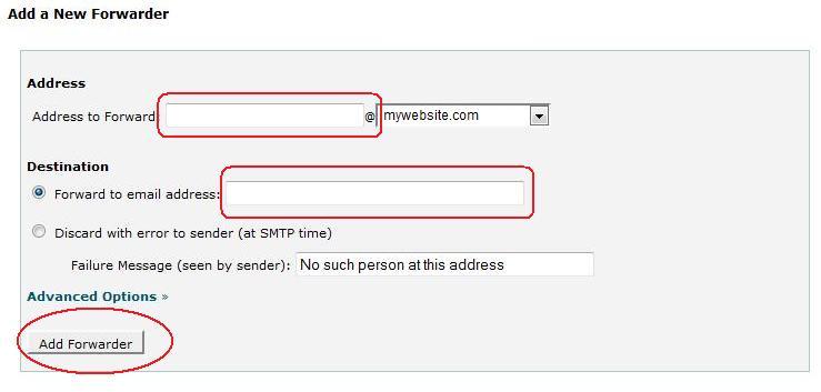 bagaimana cara forward domain email