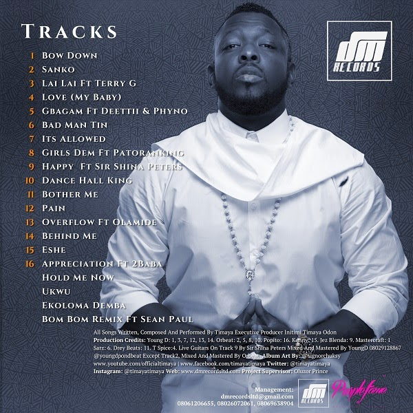 TIMAYA ALBUM LIST