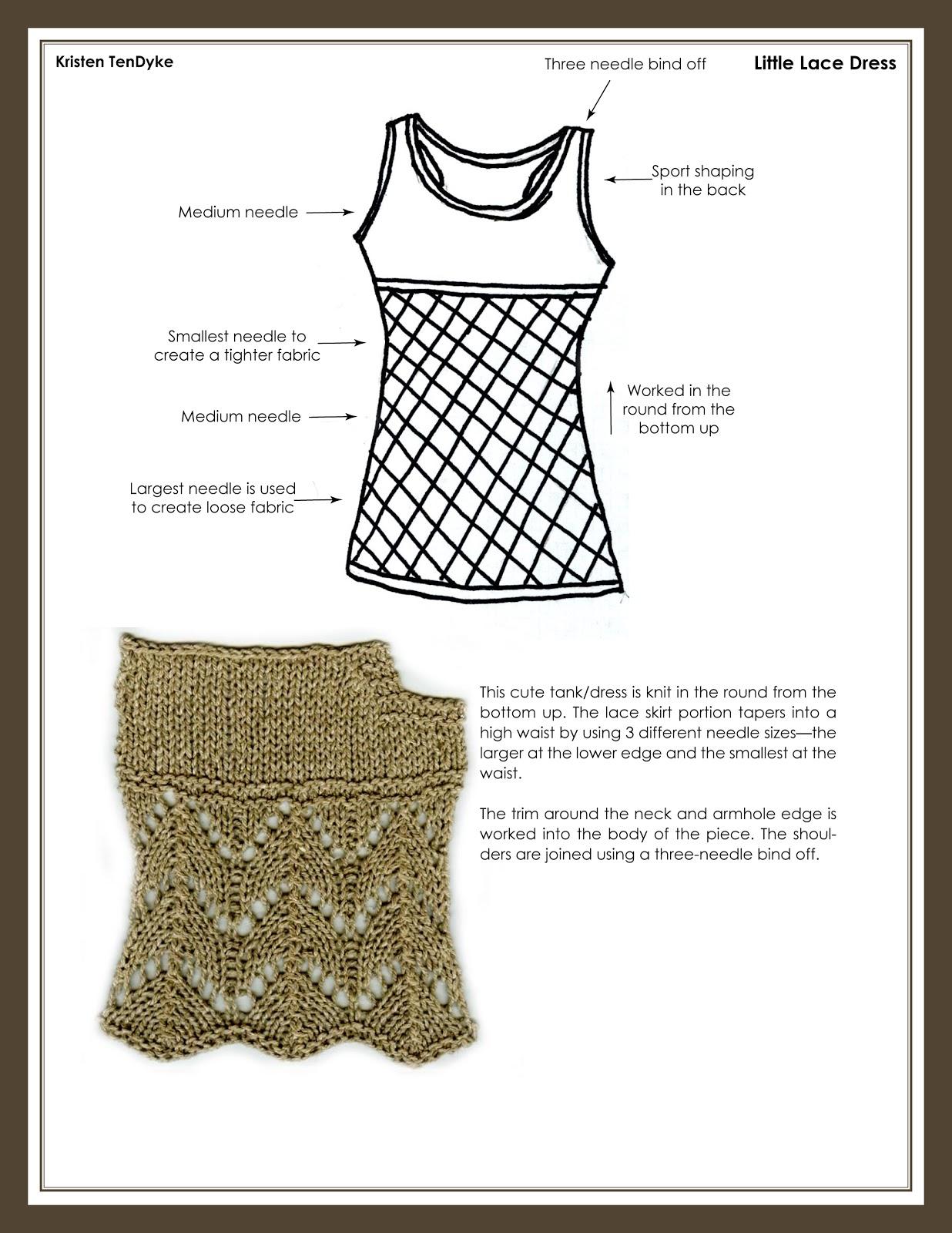 Kristen TenDyke\'s Blog: Finish-Free Knits — Harmony Dress