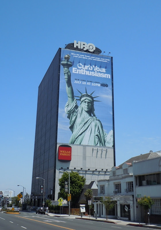 Curb Your Enthusiasm Statue of Liberty billboard