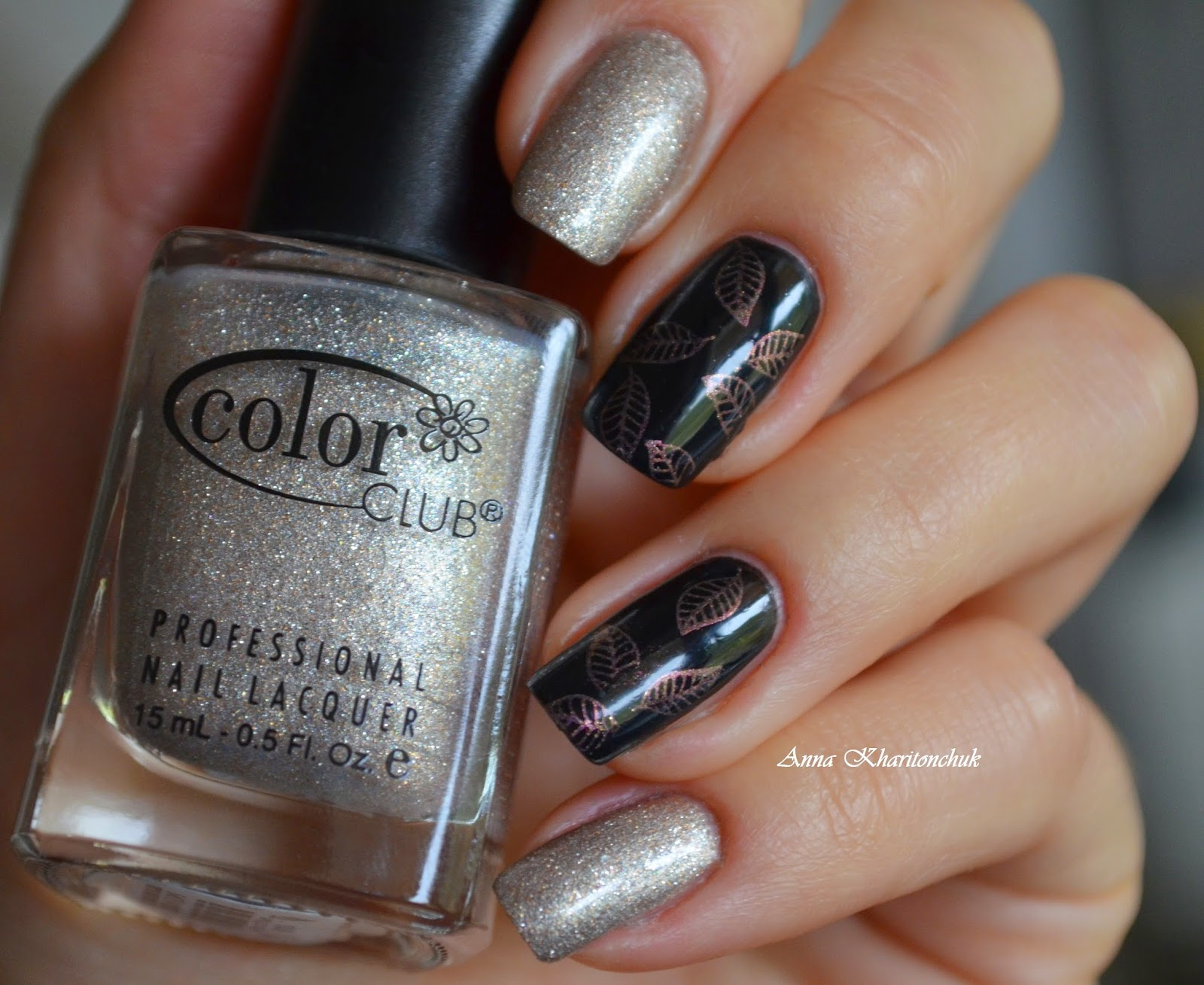 Дуэт Color Club Apollo Star 1008 и China Glaze Liquid Leather
