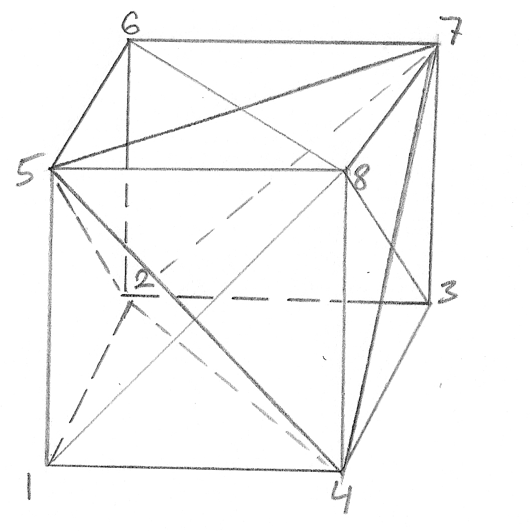 Let's Position The Two Tetrahedra That Satisfy The Conditions Of This  Problem So That The First Tetrahedron Has Vertices 4, 5, 7, 2 And The  Second
