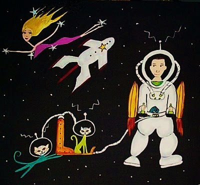 Atomic Space-moon Art