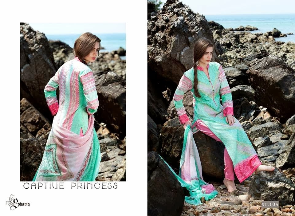 Extra Long Embroidered Lawn Suits
