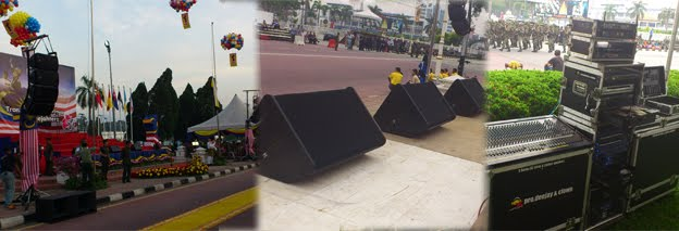 Line Array sound System @ Sambutan Hari Merdeka 1 Malaysia Peringkat Negeri Perak 2011