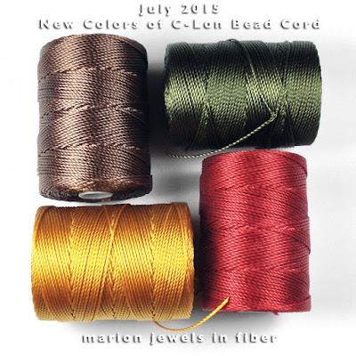 New Colors of C-Lon Bead Cord
