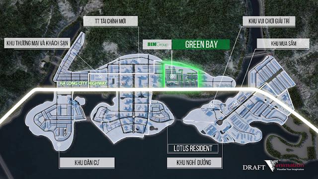 vị trí green bay village hạ long