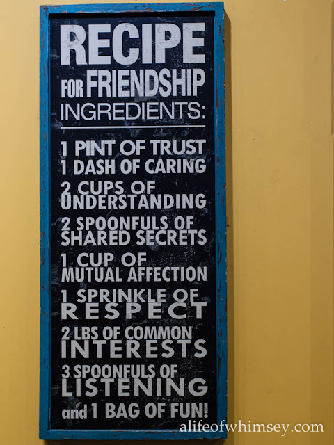Recipe for friendship plaque