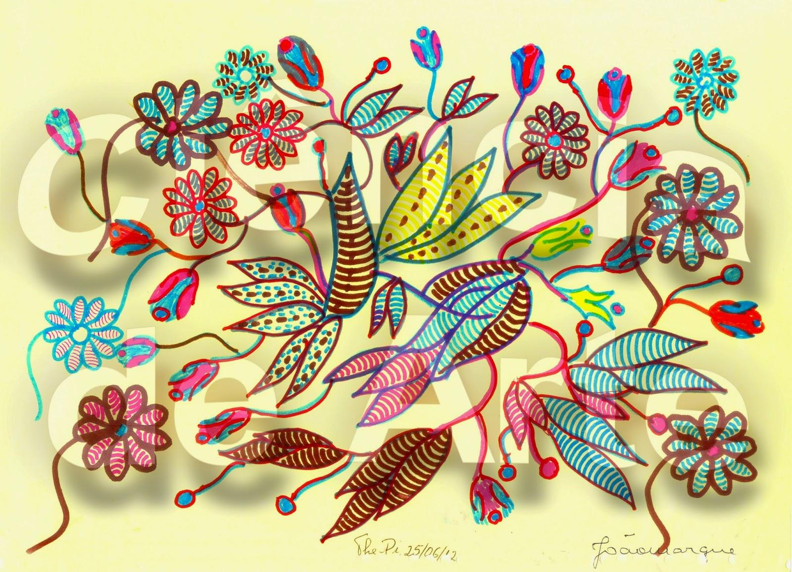 desenhos de ramos de flores 1