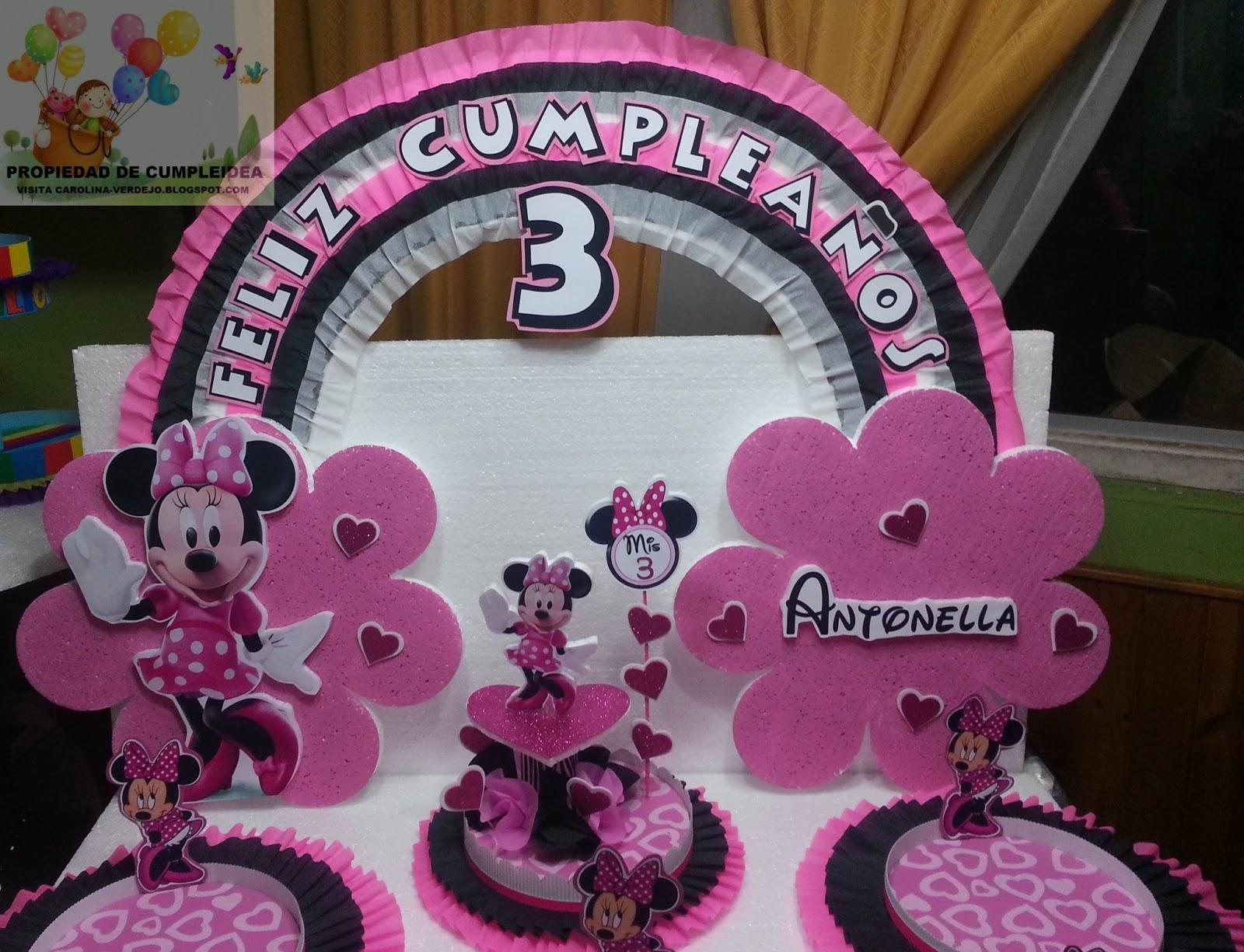 Decoraciones infantiles minnie mouse - Decoracion minnie cumpleanos ...